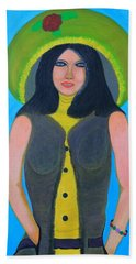 Beach Towel featuring the painting Personas  by Lorna Maza