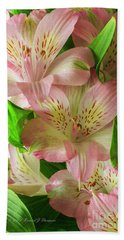 Peruvian Lilies In Bloom Beach Sheet