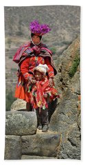 Peruvian Mother And Child Beach Sheet