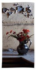 Petals And Peeling Paint - Preston Castle Beach Towel