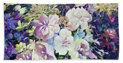 Beach Towel featuring the painting Petals by Joanne Smoley