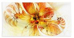 Petals Of Gold Beach Towel