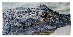 Pete The Alligator Beach Towel