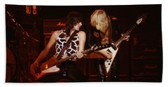 Pete Way And Michael Schenker Beach Towel
