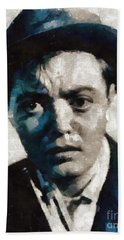 Peter Lorre Hollywood Actor Beach Towel by Mary Bassett