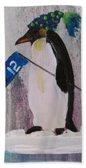Peter Penquin At The Game Beach Towel