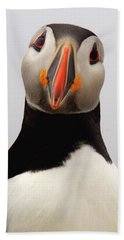 Peter The Puffin Beach Towel by Jane Axman