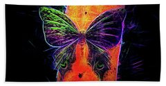 Beach Towel featuring the digital art Petit Bois Butterfly by Aliceann Carlton