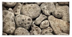 Beach Towel featuring the photograph Petoskey Stones Vl by Michelle Calkins