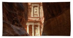 Petra Treasury Revealed Beach Towel