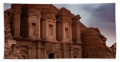 Petra's Monastery Beach Towel