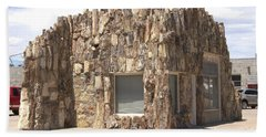 Petrified Wood Building Beach Towel