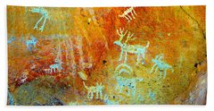Petroglyph Panel Work 12 Beach Towel