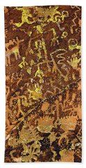 Petroglyph Records Beach Towel