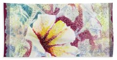 Beach Towel featuring the painting Petunia Array by Carolyn Rosenberger