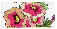 Petunias Beach Towel