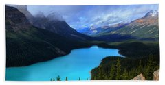 Peyto Lake Banff National Park Majestic Beauty Beach Sheet