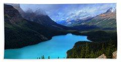 Peyto Lake Banff National Park Majestic Beauty Beach Sheet