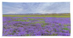 Beach Towel featuring the photograph Phacelia Field by Marc Crumpler