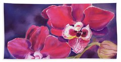 Phalaenopsis Orchid Beach Towel