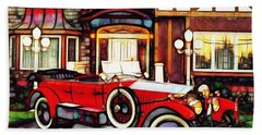 Phantom Rolls Royce 1935 Beach Towel