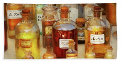 Pharmacy - Serums And Elixirs Beach Towel by Mike Savad