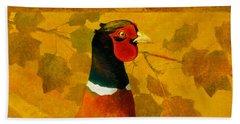 Pheasant In Yellow Beach Sheet