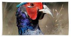 Pheasant Portrait Beach Sheet