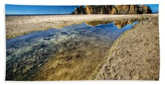 Beach Sheet featuring the photograph Pheiffer Beach- Keyhole Rock #19 - Big Sur, Ca by Jennifer Rondinelli Reilly - Fine Art Photography