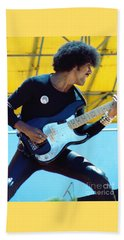 Phil Lynott Of Thin Lizzy-black Rose Tour Day On The Green 7-4-79 - New Unreleased   Beach Towel
