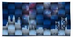 Beach Towel featuring the digital art Philadelphia 3d by Alberto RuiZ