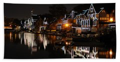 Philadelphia Boathouse Row At Night Beach Sheet