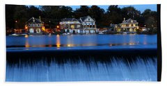 Philadelphia Boathouse Row At Twilight Beach Sheet