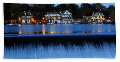 Philadelphia Boathouse Row At Twilight Beach Sheet