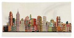 Philadelphia City Skyline Beach Towel
