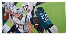Philadelphia Eagles Strip-sack Of Tom Brady In Super Bowl Lii  Beach Towel