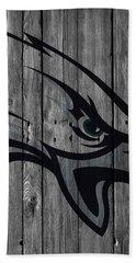 Philadelphia Eagles Wood Fence Beach Towel