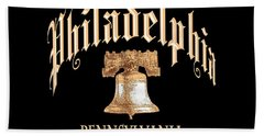 Philadelphia Pennsylvania Design Beach Towel