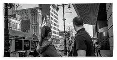 Philadelphia Street Photography - Dsc00248 Beach Sheet by David Sutton