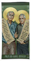 Philip And Daniel Berrigan Beach Towel