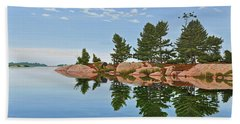 Beach Towel featuring the painting Philip Edward Island by Kenneth M Kirsch
