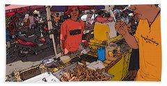 Philippines 1299 Street Food Beach Sheet
