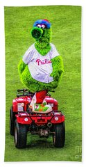 Phillie Phanatic Scooter Beach Towel