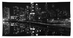Philly And The Schuylkill Bw Beach Towel
