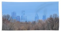 Philly From Afar Beach Towel by Kathy Eickenberg