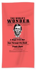 Phineas Gage World's Wonder Beach Towel