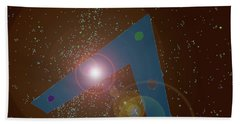 Beach Towel featuring the painting Phoenix Lights Ufo by James Williamson