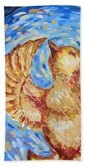 Beach Towel featuring the painting Phoenix by Maria Langgle