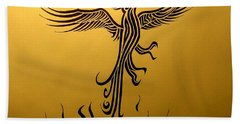 Beach Towel featuring the drawing Phoenix by Michelle Dallocchio