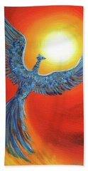 Phoenix Rising Beach Towel by Laura Iverson